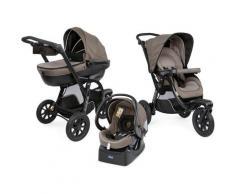 Chicco Kombi-Kinderwagen »Trio-System Activ3 Top, Dark Beige«, mit Regenschutz Kinderwagen