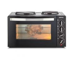 Medion® Kleinküche MD 10307 Mini Backofen mit Doppelkochplatte, Umluft, Ober-/Unterhitze, 30 l