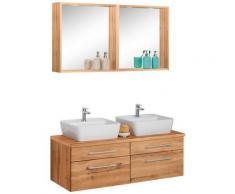 HELD MÖBEL Badmöbel-Set »Davos«, (3-St), 2 Spiegel mit mit 2 Touch-LED-Einbauleuchten