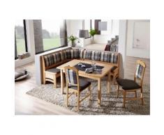 SCHÖSSWENDER Essgruppe »Tulln«, Eckbank ist umstellbar, Eckbank hat eine Truhe, Tisch mit Auszug 120(160) cm