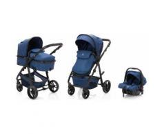 Fillikid Kombi-Kinderwagen »Panther, blau/melange«, mit Babyschale Kinderwagen