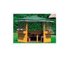 promadino Pavillon »Marburg«, (Set), BxT: 309x309 cm, inkl. Sitzgruppe und Brüstung