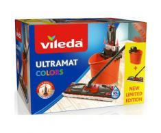 Vileda Bodenwischer-Set »Ultramat 2in1 Colors« (Set, 3-St), (Ultramat System mit 3-teiligem Stiel, Mikrofaser-Bezug, Ultramat Eimer)