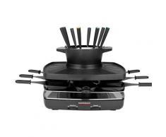 Gastroback Raclette und Fondue-Set 42567 Family and Friends, 8 Raclettepfännchen, 1200 W