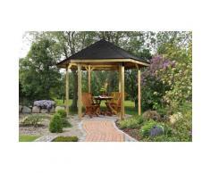 weka Pavillon »Paradies 1«, (Set), BxT: 326x376 cm, inkl. Dachschindeln und Pfostenanker