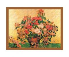 DELAVITA Bild mit Rahmen »VAN GOGH / Vase mit Rosen«, (1 Stück)
