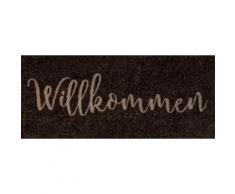Fußmatte »Willkommen«, wash+dry by Kleen-Tex, rechteckig, Höhe 9 mm, Fussabstreifer, Fussabtreter, Schmutzfangläufer, Schmutzfangmatte, Schmutzfangteppich, Schmutzmatte, Türmatte, Türvorleger, mit Spruch, In- und Outdoor geeignet, waschbar