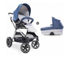 Hauck Kombi-Kinderwagen »iPro Mars Duoset, denim/silver«, mit Babywanne Kinderwagen