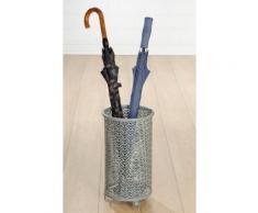 GILDE Schirmständer »Regenschirmständer Fächer, grau« (1 Stück), für Regenschirme, Höhe 40 cm, rund, Ø 24 cm, aus Metall, mit Motivausstanzung