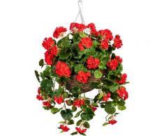 Künstliche Zimmerpflanze »Volme« Geranie, DELAVITA, Höhe 80 cm, im Weidekorb