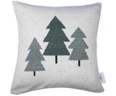 Kissenhülle »Christmas Tree«, TOM TAILOR (1 Stück), mit karierten Weihnachtsbäumen