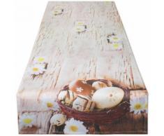 Delindo Lifestyle Tischläufer »Ostereier im Körbchen«, Glattes Gewebe, bedruckt