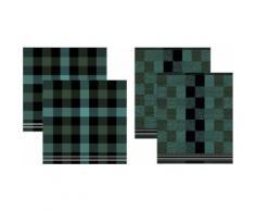 DDDDD Geschirrtuch »Feller«, (Set, 4-tlg., Combi-Set: bestehend aus 2x Küchentuch + 2x Geschirrtuch)