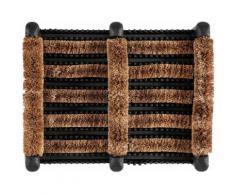Fußmatte »Gummi Kokos Schuhrille«, Andiamo, rechteckig, Höhe 60 mm, Schmutzfangmatte, In- und Outdoor geeignet