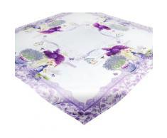 Delindo Lifestyle Mitteldecke »Lavendel TÖPFCHEN« (1-tlg), Strukturgewebe, bedruckt
