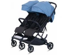 Knorrbaby Zwillingsbuggy »Twin-Easy Fold, Blau«, faltbar Zwillingskinderwagen Kinderwagen für Zwillinge Buggy für Zwillinge Zwillingswagen