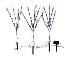 näve LED Gartenleuchte »Erdspieß«, 3er-Set, Blinklichtfunktion
