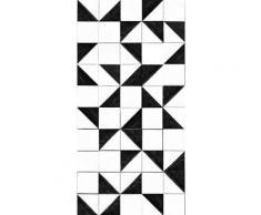 vtwonen Fototapete »Geo - Fliesen«, geometrisch, (1 St), Schwarz/Weiss - 150x280cm