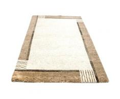 Wollteppich »Nepal Teppich handgeknüpft beige«, morgenland, rechteckig, Höhe 18 mm, handgeknüpft