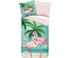 Kinderbettwäsche »Bonaire«, good morning, mit Flamingos