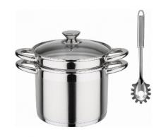 GSW Spaghettitopf »Treviso«, Edelstahl 18/8, (1-tlg), Induktion, 6,5 Liter, inkl. Pastalöffel