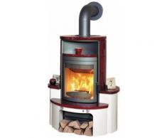 HARK Kaminofen »Avenso ECOplus bordeaux-rot«, 8 kW, Dauerbrand