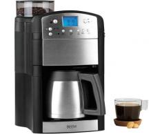 BEEM Kaffeemaschine mit Mahlwerk Fresh-Aroma-Perfect Thermolux, 1,25l Kaffeekanne, goldfarbener Permanentfilter