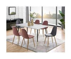 Leonique Essgruppe »Eadwine«, (Set, 5-tlg), bestehend aus Eadwine Esstisch 160 cm und 4 Eadwine Esszimmerstühlen