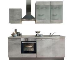 Express Küchen Küchenzeile »Trea«, ohne E-Geräte, vormontiert, mit Vollauszug und Soft-Close-Funktion, Breite 220 cm