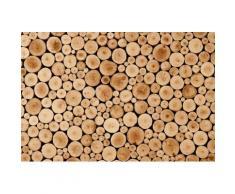 Fototapete »Round Teak Wood«, glatt