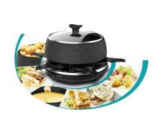 Tefal Raclette RE12C8 Fondue Cheese 'n Co, 6 Raclettepfännchen, 850 W, Elektrischer Raclette-Grill + Fondue-Gerät Für 6 Personen Spülmaschinengeeignet