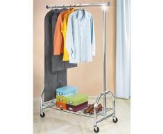 WENKO Garderobenständer »Kleiderständer Profi verchromt«, (1 St), mit großer Gitternetz-Schuhablage