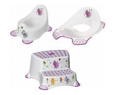 keeeper Töpfchen »Hippo, weiß«, (Set, 3-tlg), Kinderpflege-Set - Töpfchen, Toilettensitz und Tritthocker Made in Europe