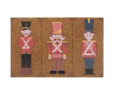 Fußmatte »Spielfiguren«, my home, rechteckig, Höhe 10 mm, Schmutzfangmatte In- und Outdoor geeignet, Kokos-Optik