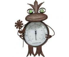 Schneider Gartenfigur »Frosch«, (1 St), Thermometer, Rost