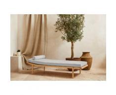 LeGer Home by Lena Gercke Polsterbank »Celia«, mit Polsterauflage und Kissenrolle, Relaxliege mit Massivholzgestell Daybett