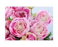 Fototapete »Pink Peony Flowers«, glatt
