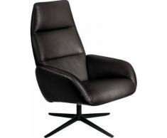 KEBE Relaxsessel »Ergo«, mit schwarz lackiertem Drehfuß Bossa in Leder oder Struktur fein