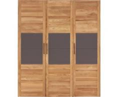Premium collection by Home affaire Drehtürenschrank »Chamara« aus massivem Eichenholz, in unterschiedlichen Schrankbreiten erhältlich, Höhe 218 cm