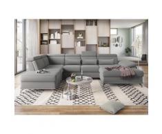 sit&more Wohnlandschaft, mit Sitztiefenverstellung und Federkern, wahlweise mit Bettfunktion und Bettkasten, jeweils inklusive 3 Nierenkissen