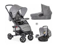 Hauck Kombi-Kinderwagen »Malibu 4 Trio Set, Melange/Grey«, mit Babyschale Kinderwagen