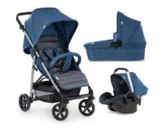 Hauck Kombi-Kinderwagen »Rapid 4 Plus TrioSet, denim/grey«, mit Babyschale Kinderwagen