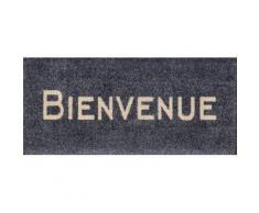 Fußmatte »Bienvenue«, wash+dry by Kleen-Tex, rechteckig, Höhe 9 mm, Schmutzfangmatte, mit Spruch, In- und Outdoor geeignet, waschbar