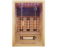 Dewello Infrarotkabine »Milton Vollspektrum«, BxTxH: 135 x 105 x 190 cm, 50 mm, für bis zu 2 Personen