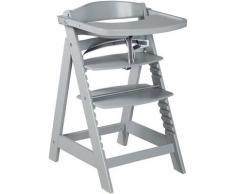 roba® Hochstuhl »Treppenhochstuhl Sit Up Click & Fun, taupe« aus Holz