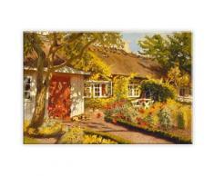 Wall-Art Leinwandbild »Olaf Viggo Peter Langer - Das Gartenhaus«, in 2 Größen