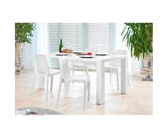 SalesFever Essgruppe, (Set, 5-tlg), bestehend aus 4 modernen Kunststoffstühlen und einem 180 cm breitem Tisch