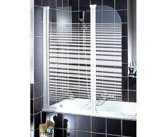 Schulte Badewannenaufsatz »Wega«, Sicherheitsglas, (2 tlg), Breite: 116 cm, mit Sichtschutz