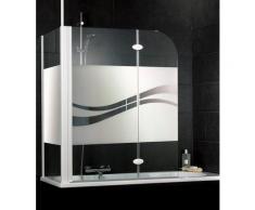 Schulte Badewannenaufsatz »Liane«, Sicherheitsglas, (Set, 2 tlg), Dekor liane