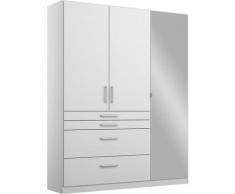 rauch BLUE Drehtürenschrank »Homburg« mit Spiegel, oberer Schubkasten mit Einteilung